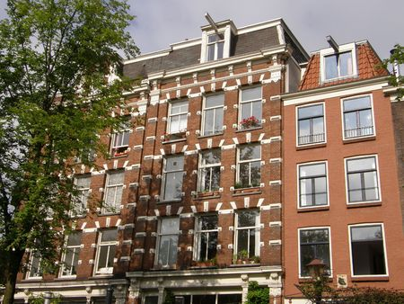 Amsterdam Canals & Houses Stock Photo - 3551606