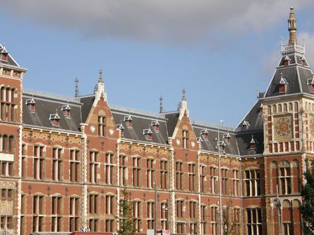 Amsterdam Central Station in Holland photo