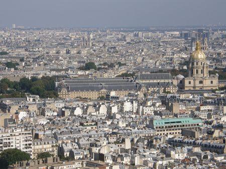 Aerial View of Paris, France Banque d'images