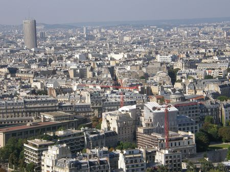 Aerial View of Paris, France photo
