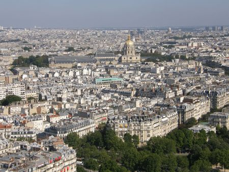 Aerial View of Paris, France Stock Photo - 3589186