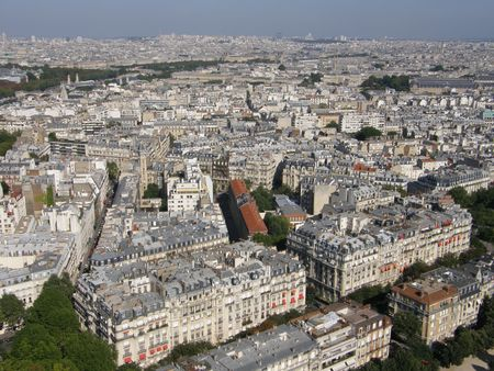 Aerial View of Paris, France Stock Photo - 3589187