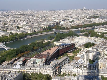 trocadero: Aerial View of Paris, France Stock Photo