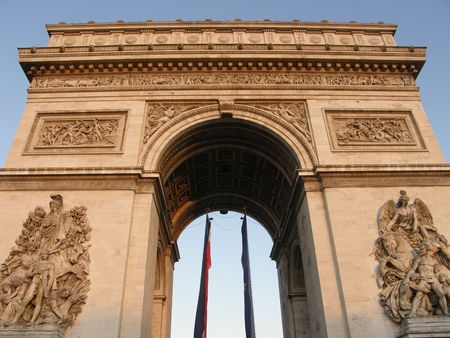 triomphe: Arc De Triomphe in Paris, France