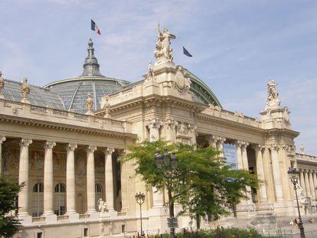 Grand Palais of Paleis in Parijs, Frankrijk Stockfoto