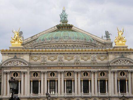 Palais of Opera Garnier & The National Academy of Music in Parijs, Frankrijk Stockfoto