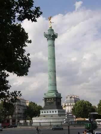 The July Column at Place de la Bastille in Paris