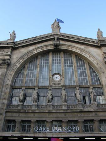 du ร    ก ร: Gare Du Nord Train Station in Paris, France
