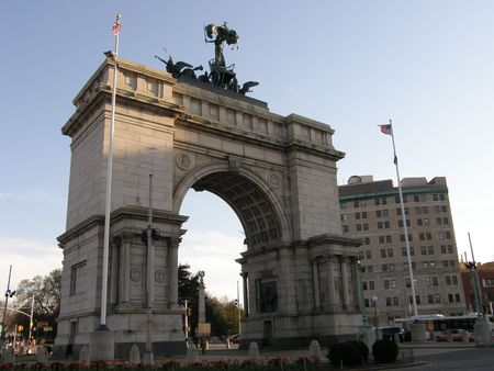 chancen: Grand Army Plaza in Prospect Park in Brooklyn, New York City Lizenzfreie Bilder