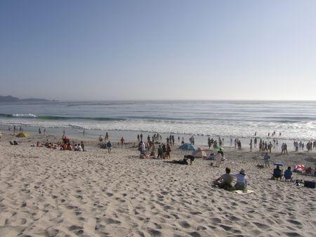 Monterey Bay (Pacific Ocean) in California photo