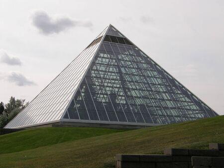 conservatory: Muttart Conservatory in Edmonton, Alberta Stock Photo
