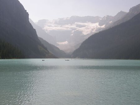 banff national park: Lake Louise in Banff National Park in Alberta, Canada Stock Photo