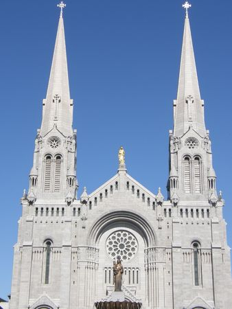 Shrine and Cathedral at Ste Anne de Beaupre in Quebec