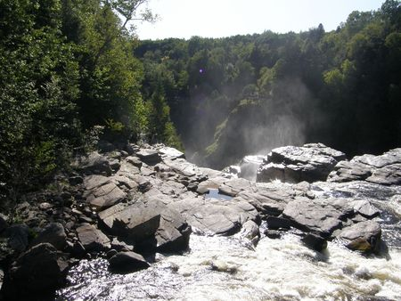 Canyon Ste-Anne in Quebec, Canada photo