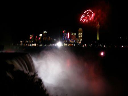 gush: Niagara Falls in USACanada Stock Photo