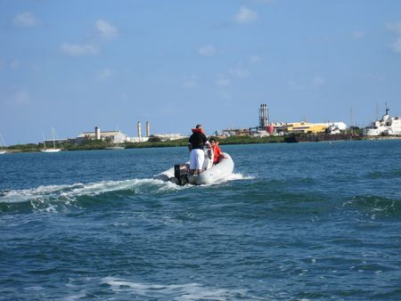 Powerboat in the Caribbean photo