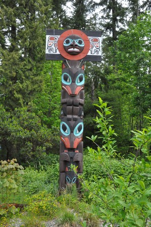 Totem Pole in Stanley Park, Vancouver in Canada