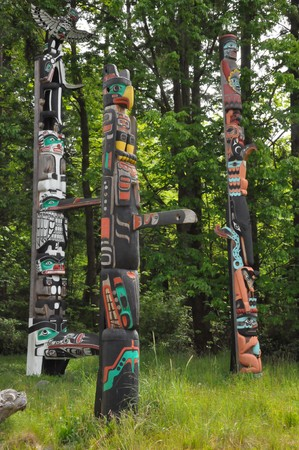 Totem Pole in Stanley Park, Vancouver in Canada photo