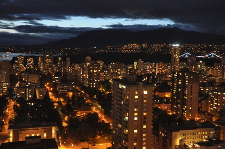 Vancouver in Canada by Night photo