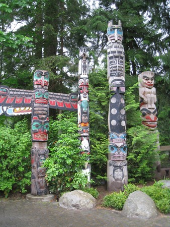Totem Poles in Vancouver, Canada