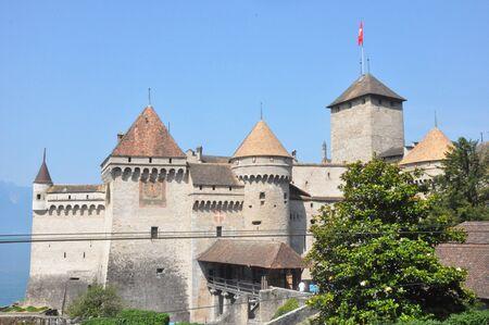 montreux: Chillon Castle in Montreux, Switzerland