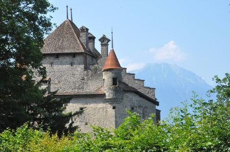 Chillon Castle in Montreux, Switzerland photo