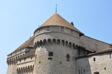 Chillon Castle in Montreux, Switzerland photo