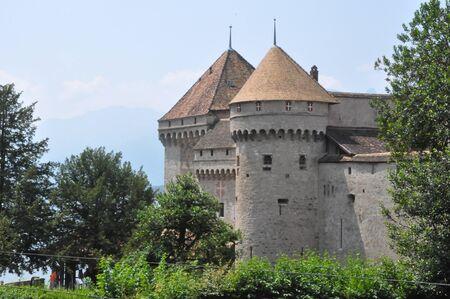 vevey: Chillon Castle in Montreux, Switzerland