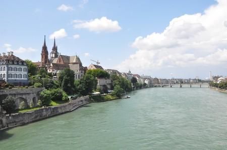Basel in Zwitserland Stockfoto