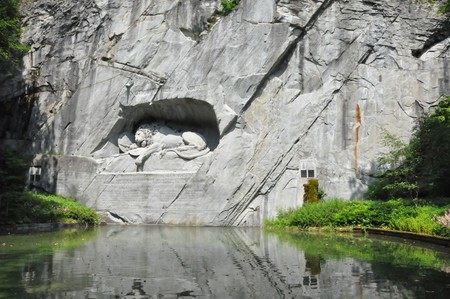 Lion Monument in Lucerne, Switzerland Stock Photo - 7662939