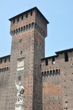 Sforzas Castle in Milan, Italy photo