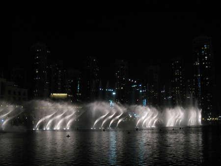 Dubai Fountain in United Arab Emirates