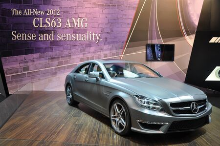 mercedes: TORONTO, ON - FEB 24: Mercedes Benz CLS63 at the International Canadian Auto Show on February 24, 2011 in Toronto