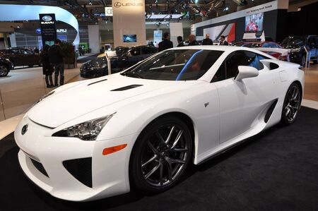 lfa: TORONTO - FEBRUARY 24: The All New Lexus LFA debuted at the 2011 Canadian International Auto Show on February 24, 2011 in Toronto