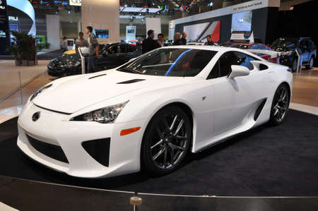 TORONTO - FEBRUARY 24: The All New Lexus LFA debuted at the 2011 Canadian International Auto Show on February 24, 2011 in Toronto