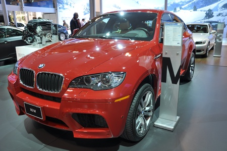 TORONTO, ON - FEB 24: BMW X6 at the International Canadian Auto Show on February 24, 2011 in Toronto Editorial