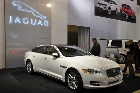 TORONTO - FEBRUARY 17: Jaguar exhibit debuted at the 2011 Canadian International Auto Show on February 24, 2011 in Toronto