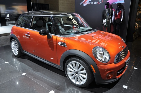 TORONTO - FEBRUARY 24: MINI Cooper exhibit at the 2011 Canadian International Auto Show on February 24, 2011 in Toronto  Editorial