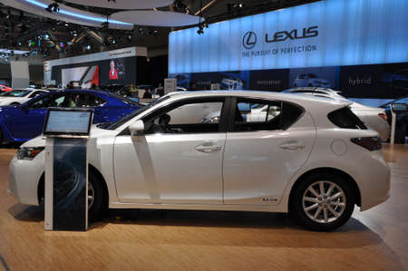 lfa: TORONTO - FEBRUARY 24: Lexus exhibit at the 2011 Canadian International Auto Show on February 24, 2011 in Toronto  Editorial