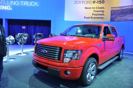 TORONTO - FEBRUARY 24: Ford F-150 at the 2011 Canadian International Auto Show on February 24, 2011 in Toronto