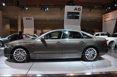 a6: TORONTO - FEBRUARY 24: Audi A6 on display at the 2011 Canadian International Auto Show on February 24, 2011 in Toronto