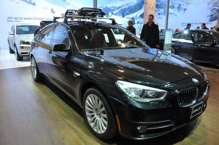 TORONTO, ON - FEBRUARY 24: BMW exhibit at the International Canadian Auto Show on February 24, 2011 in Toronto