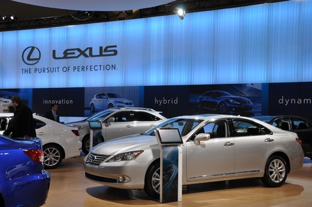 lfa: TORONTO - FEBRUARY 24: Lexus Exhibit on display at the 2011 Canadian International Auto Show on February 24, 2011 in Toronto