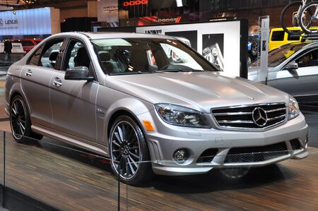 mercedes: TORONTO - FEBRUARY 24: Mercedes Benz E-Class at the 2011 Canadian International Auto Show on February 24, 2011 in Toronto