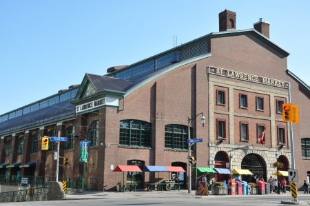 blue plaque: St Lawrence Market in Toronto, Canada