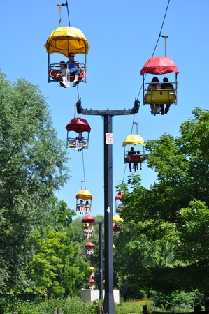 Cable Cars at Toronto Island in Canada Editorial