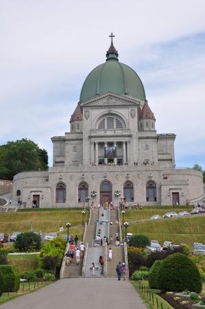 oratoria: Oratorio de San José en el Monte Royal en Montreal, Canadá Foto de archivo