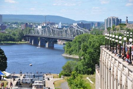 rideau canal: Rideau Canal Locks in Ottawa, Canada