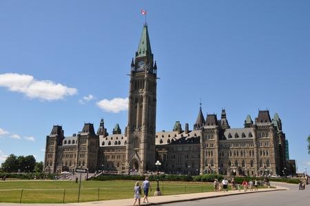 Parliament Hill in Ottawa, Canada Foto de archivo - 117387585