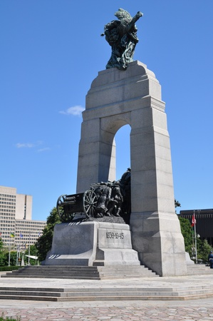National War Memorial in Ottawa, Canada Banque d'images - 117387616
